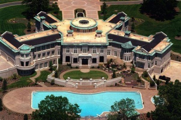 biggest house in the world evander holyfield s 109 room palatial mansion to be auctioned 11229