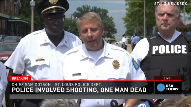 St. Louis Police Fatally Shoot Man Who Allegedly Brandished Knife in Altercation Near Ferguson [video]