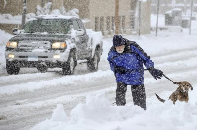 Biting Cold All over US and Record Snowfalls Too [video]