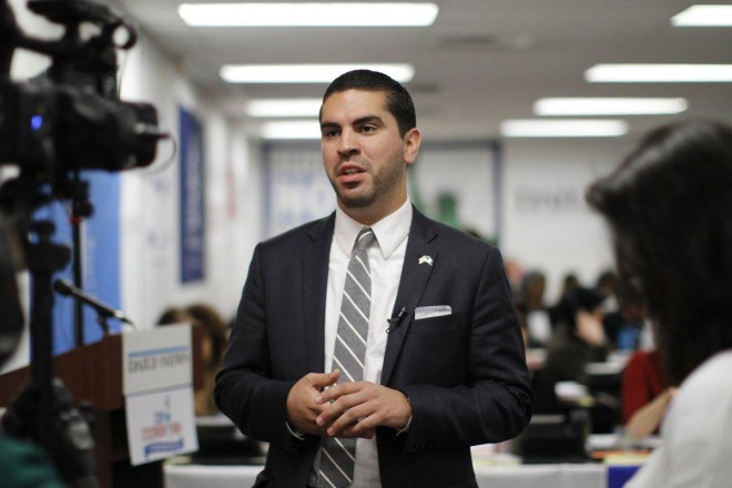 """City Councilman Rafael Espinal is set to introduce the bill Thursday. He believes it stop """"edible"""" food from heading to landfills and instead deliver it to the mouths of hungry New Yorkers. (JEANNE NOONAN/FOR NEW YORK DAILY NEWS)"""